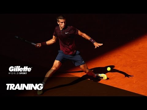 Tennis Training with Borna Coric | Gillette World Sport