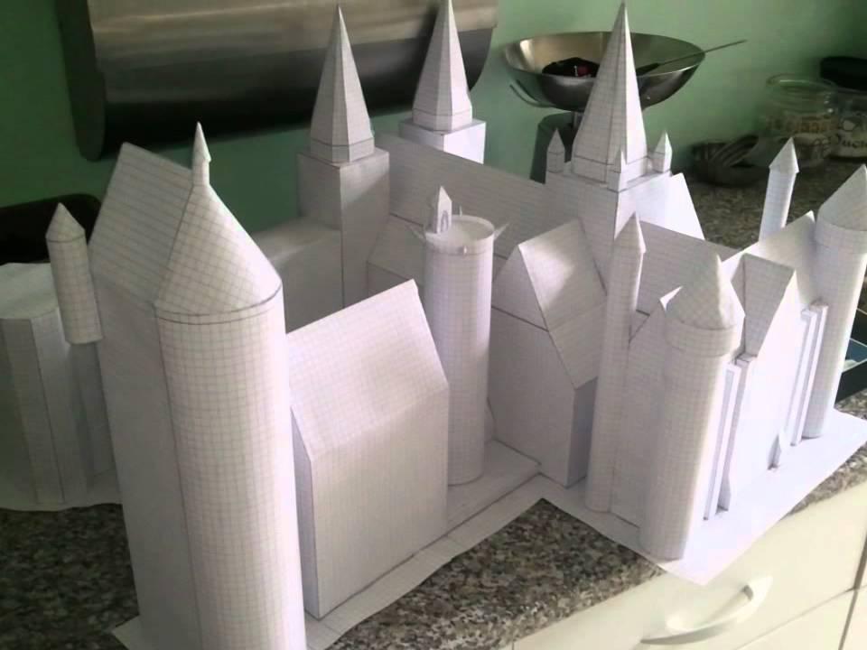 Poudlard Hogwarts En 3d Papercraft Youtube