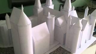 poudlard (hogwarts) en 3d papercraft