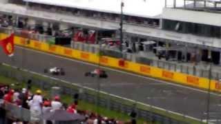 Vettel spins on Hungaroring in 27/07/2014