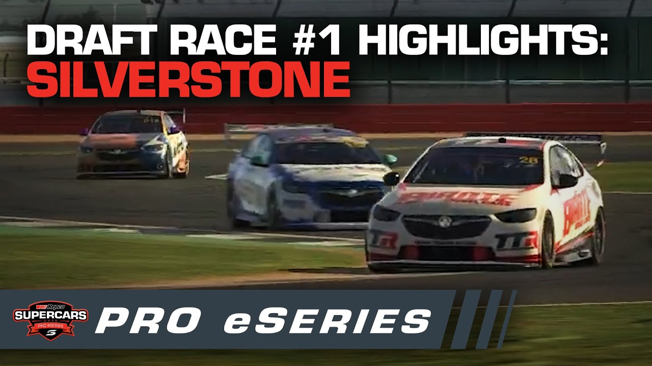 Highlights: Draft Race #1 Silverstone - Repco Pro eSeries | Supercars Pro eSeries 2020