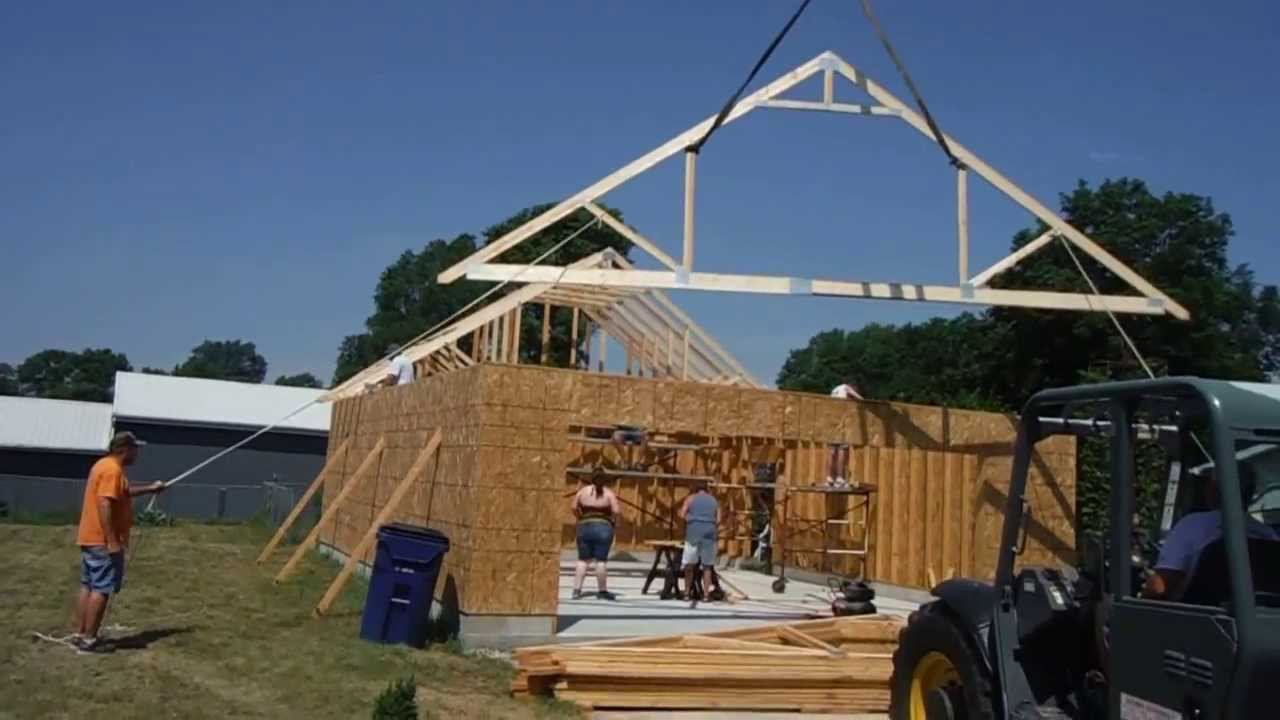 Setting Trusses 2 Youtube