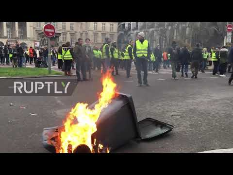 France: Rouen sees 'Yellow Vest' chaos in seventh week of protests