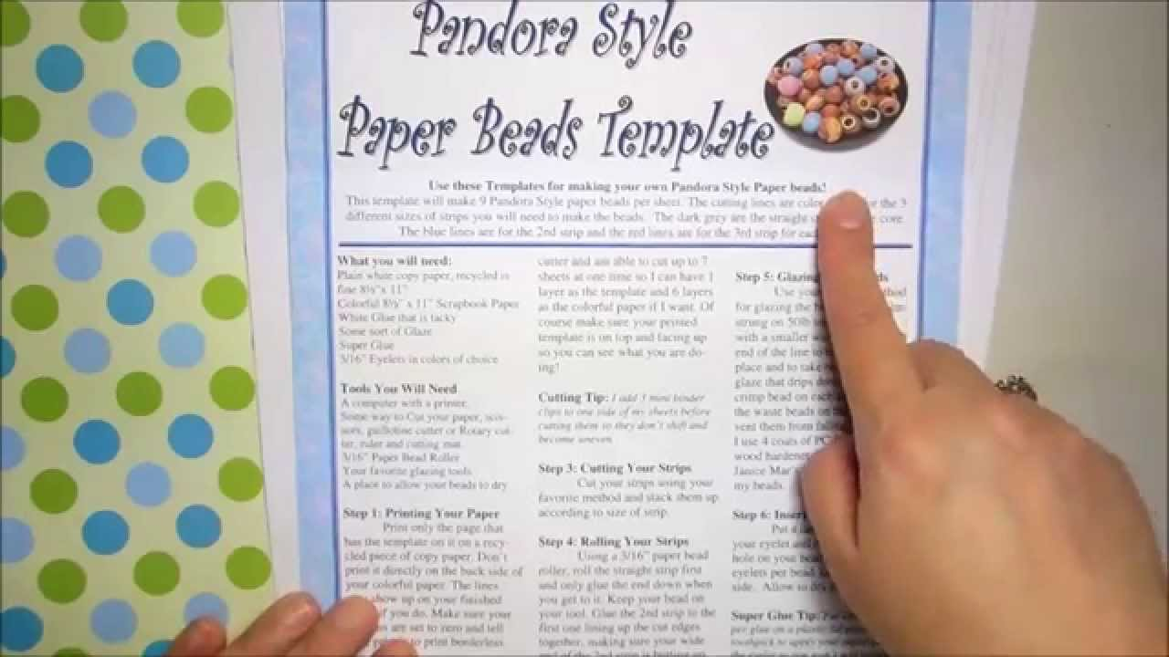 How To Make Pandora Style Paper Beads Youtube