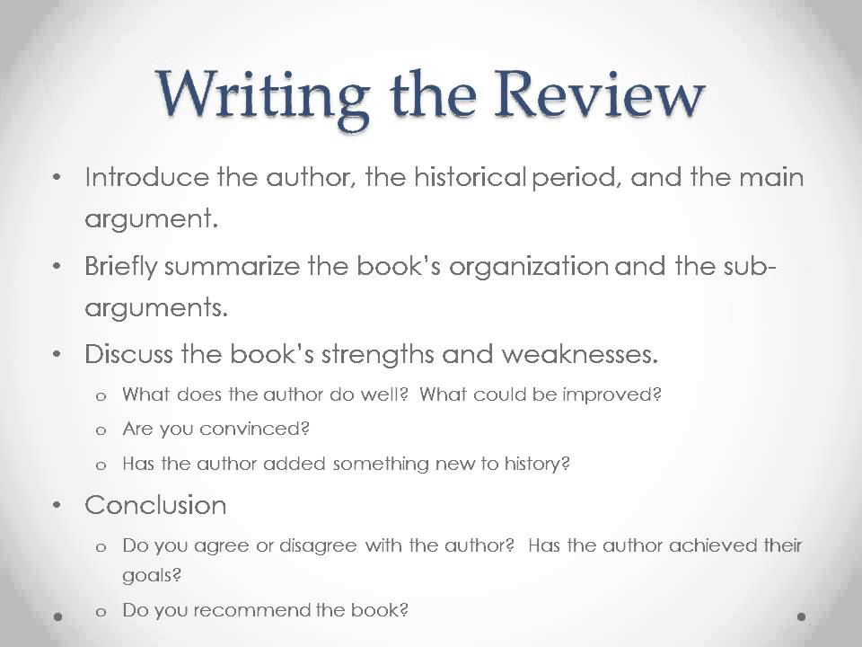how to write a book review # 14