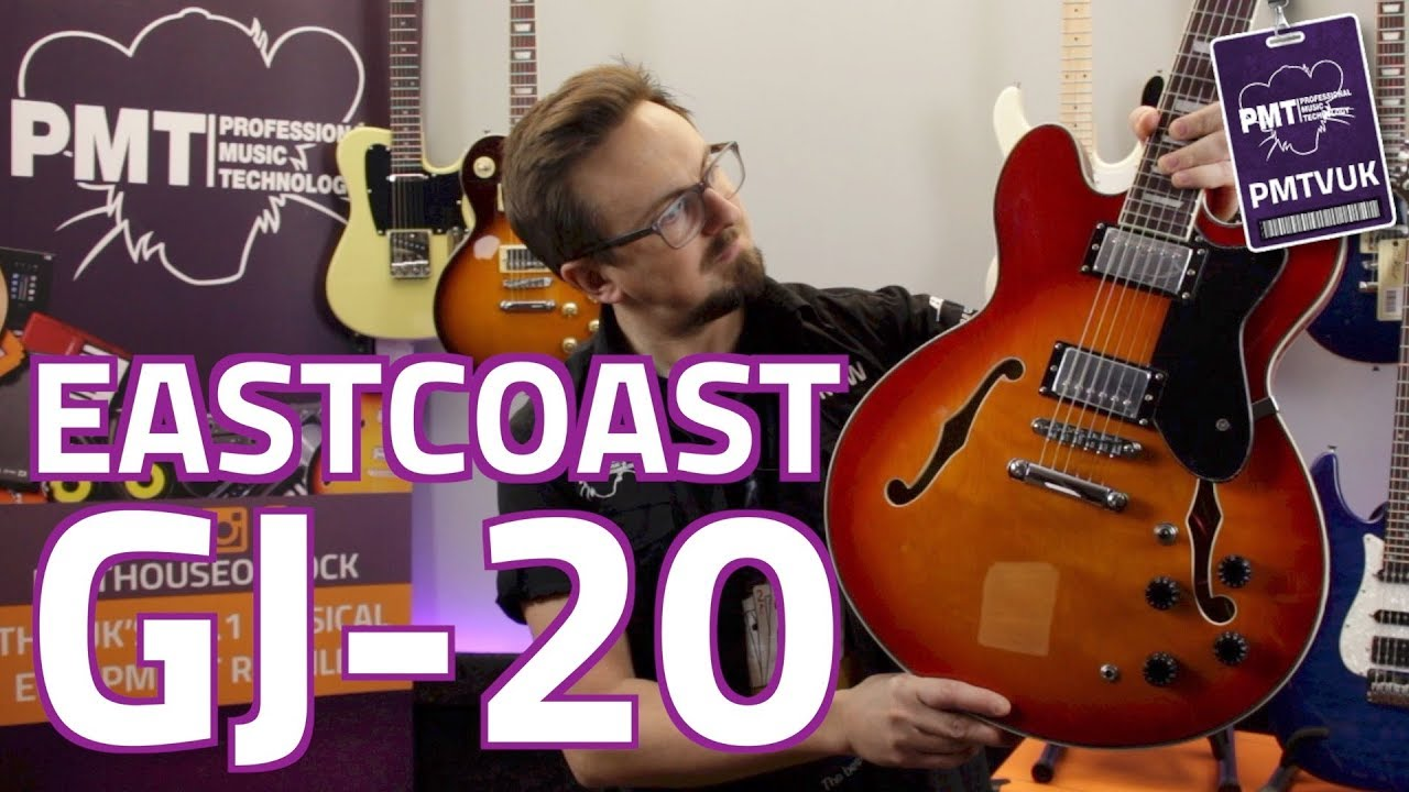 eastcoast gj20 review demo the best value semi hollow body electric guitar youtube. Black Bedroom Furniture Sets. Home Design Ideas