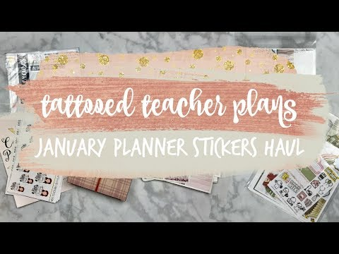 january planner supplies haul! ft. scribble prints co, paper princess plans, & more!