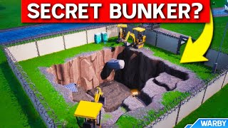 *NEW* SECRET BUNKER AT LOOT LAKE?!?! - Fortnite Live Event