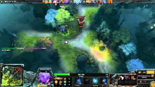 Dota 2: Пексик играет за Антимага (Магина, Anti mage), бой 1 из 2 loss