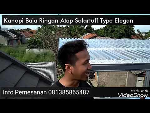 Kanopi Baja Ringan Atap Solartuff Type Elegan
