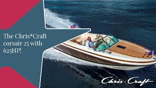 chriscraft corsair 25 with a 625HP Ilmor V10 over 75 MPH