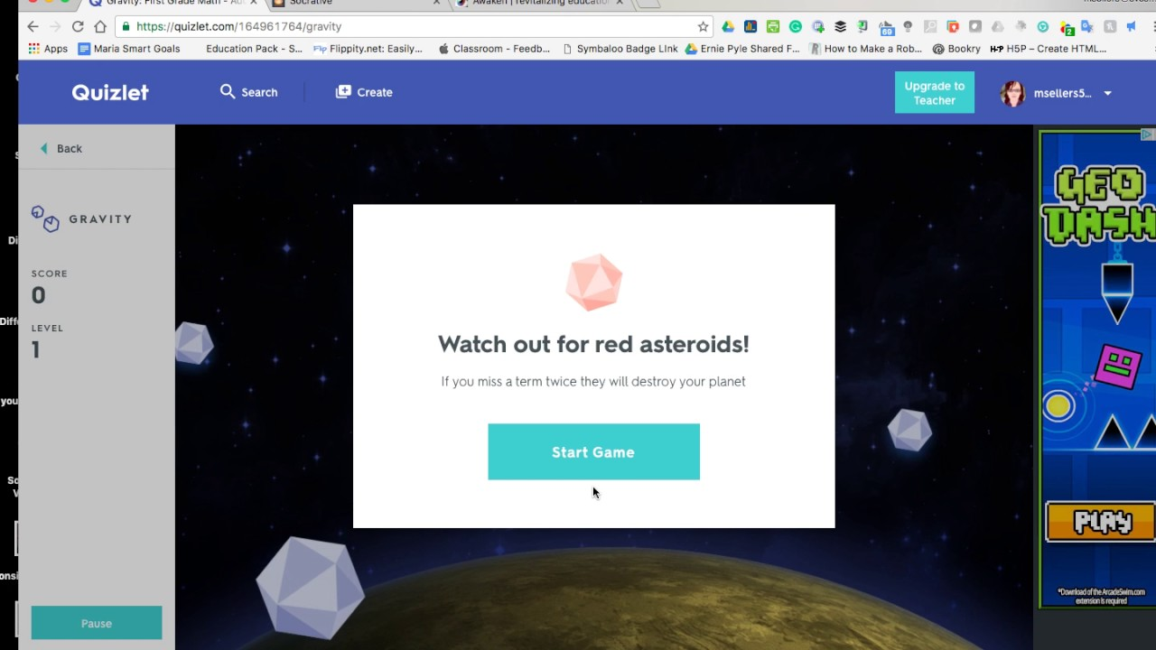 Quizlet LIve and Gravity - YouTube