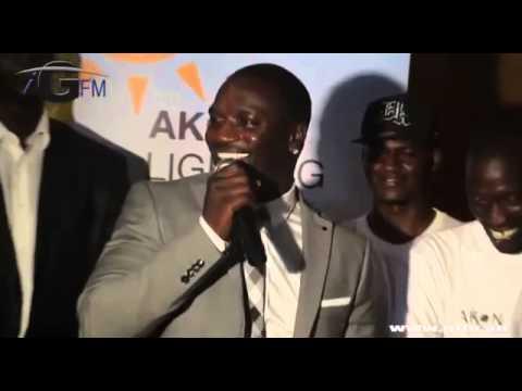 Akon's speech in wolof Senegal (Lighting Africa)