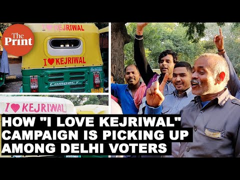 """""""I love Kejriwal"""" - How AAP govt's campaign is picking up among Delhi Voters"""