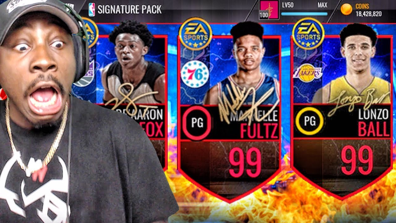 NEW 99 OVR LONZO BALL MARKELLE FULTZ IN SIGNATURE PACK OPENING NBA Live Mobile Gameplay Ep 151