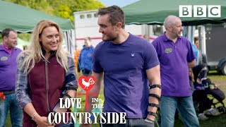 The dates get competitive clay pigeon shooting! - Love in the Countryside - BBC