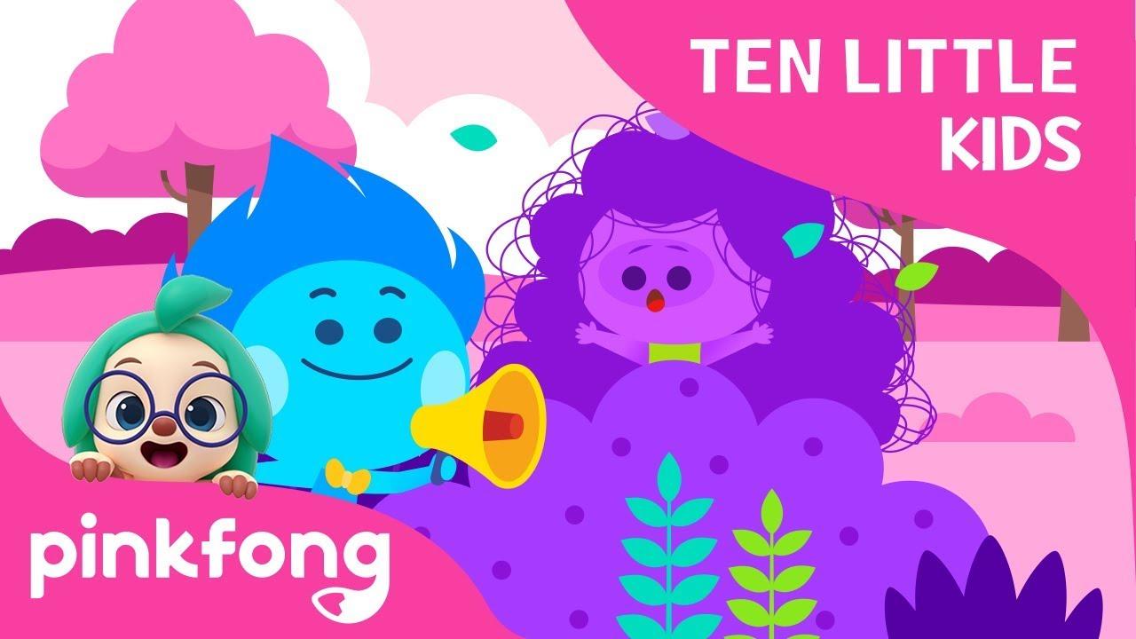 Ten Little Kids' Hide-and-seek | Ten Little Kids Songs | Pinkfong Songs for Children