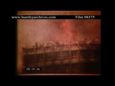 Joelma Tower block fire, Brazil, 1974.  Archive film 98375