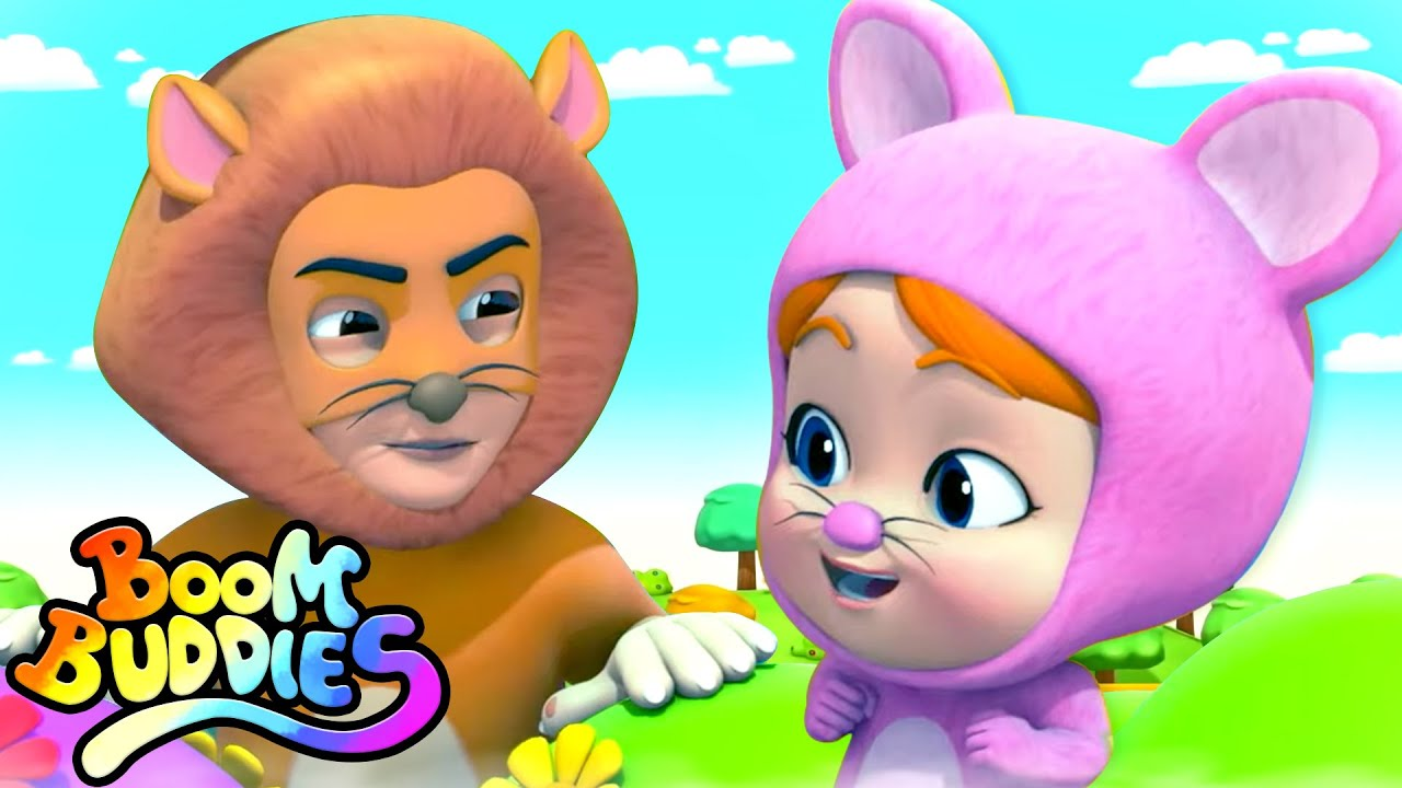 The Lion and The Mouse Story | Pretend Play Song | Short Stories For Kids with Boom Buddies