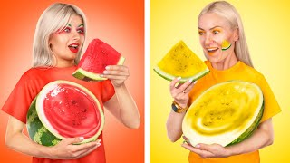 تحدي البطيخ! أفكار ومقالب مضحكة