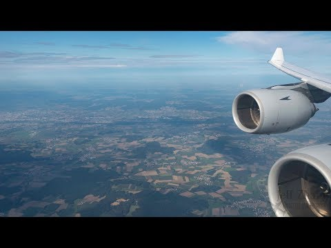LUFTHANSA A340-600 | Full Flight Denver - Munich