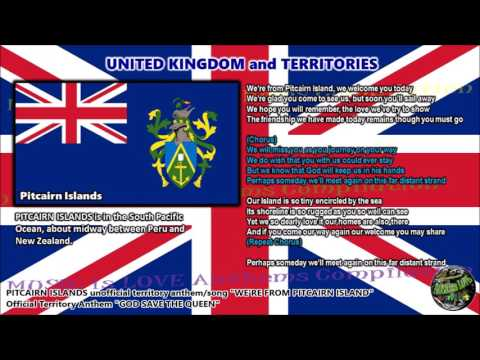 Pitcairn Islands Unofficial Territory Anthem/Song WE'RE FROM PITCAIRN ISLAND with vocal and lyrics
