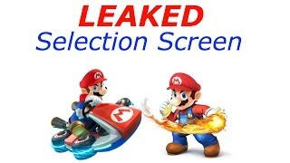 [LEAKED] Select Screen Of Mario Kart 8 and Super Smash Bros Wii u!?