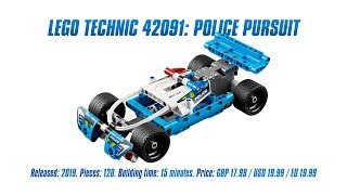 LEGO Technic 42091: Police Pursuit In-depth Review, Speed Build & Parts List [4K]