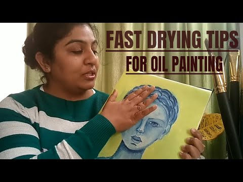 How to dry OIL PAINTING VERY FAST ll oil painting tips in hindi for beginners
