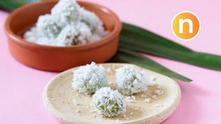 Onde-Onde | Pandan-Flavored Glutinous Rice Balls with Palm Sugar | Buah Melaka [Nyonya Cooking] thumbnail