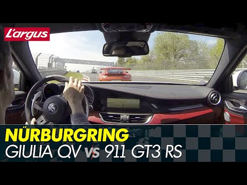 New Alfa Giulia Quadrifoglio - Nurburgring battle vs 911 GT3 RS, BMW M3...