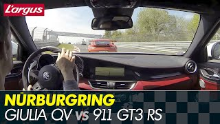New Alfa Giulia Quadrifoglio - Nurburgring battle vs 911 GT3 RS, BMW M3...