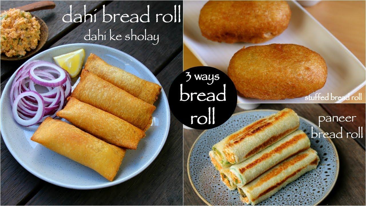 Dahi ke sholay recipe dahi bread roll bread curd fire roll dahi ke sholey
