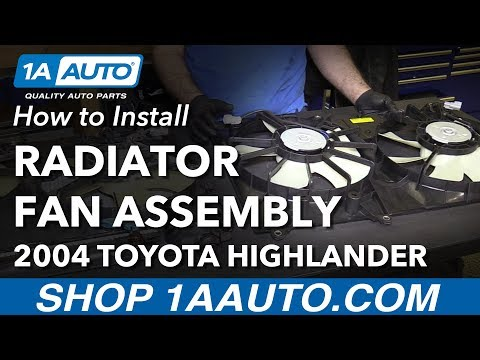 How to Install Replace Radiator Cooling Fan Assembly 2001-07 Toyota Highlander L4 2.4L