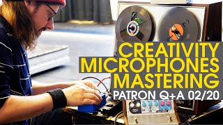Finishing tracks, bowing percussion, test equipment vst and more   Patron Q+A 2/20