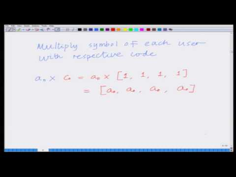 Lecture 26: Introduction to Code Division Multiple Access (CDMA)