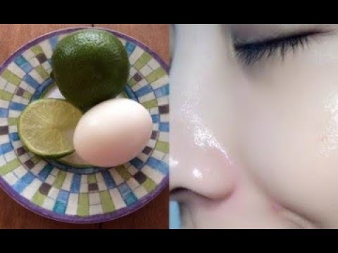 Dùng chanh và trứng gà da trắng đẹp hơn hẳn mỹ phẩm nhập ngoại
