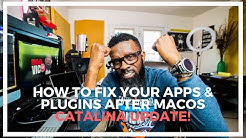 HOW TO FIX YOUR UNRESPONSIVE APPS AND PLUGINS AFTER UPDATING TO MacOS Catalina 👏👍🏻