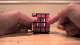 4x4x4 supercube layer by layer tutorial part 3a: Last layer with middle rotation
