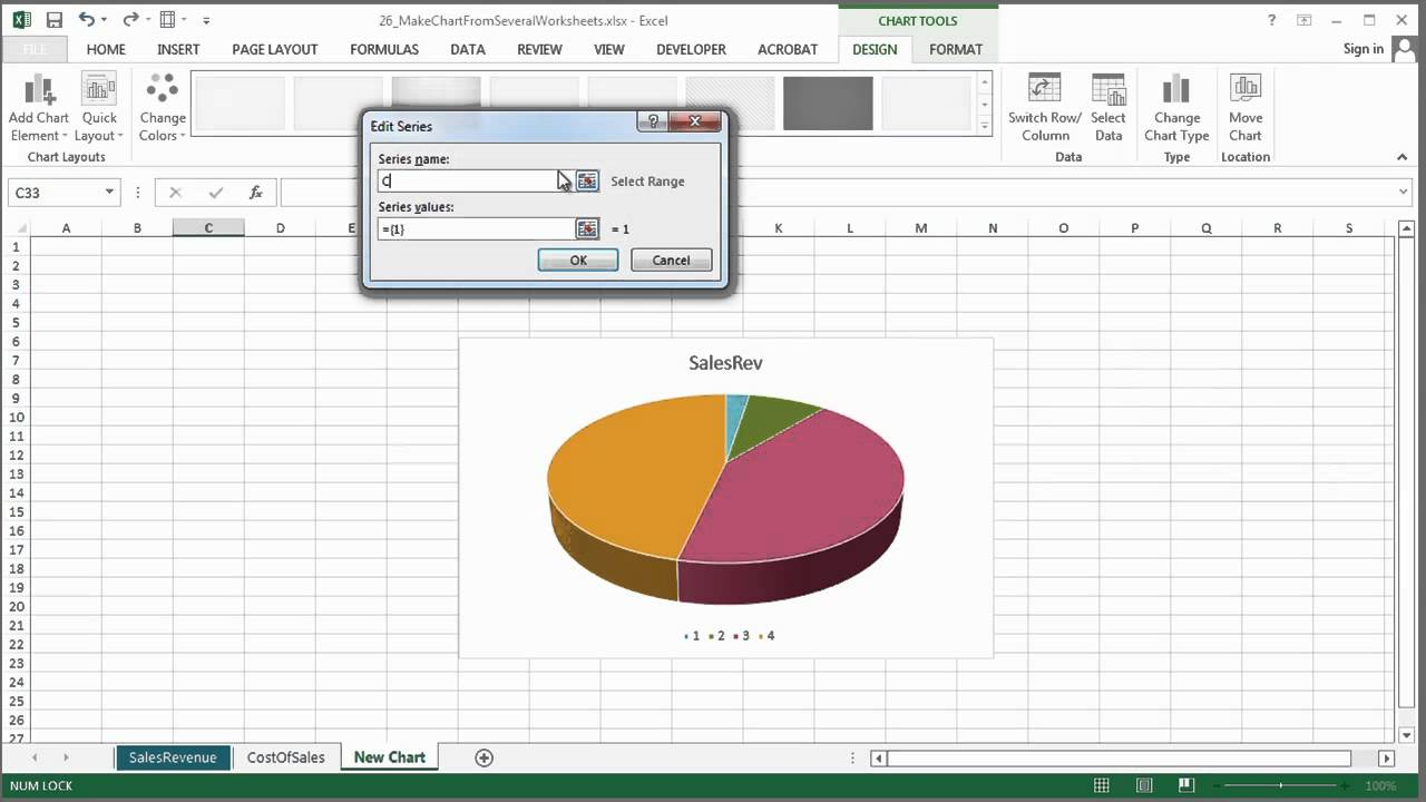 How To Make A Chart In Excel From Several Worksheets Microsoft