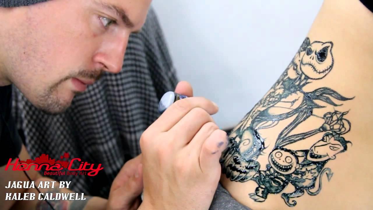 Jack and Sally Jagua Tattoo nightmare before christmas - Henna City ...