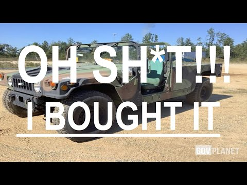 I Bought A GovPlanet Humvee- What Have I Done??