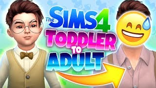😡THE HARDEST CHALLENGE😡 -  Sims 4 Toddler to Adult CAS Challenge!
