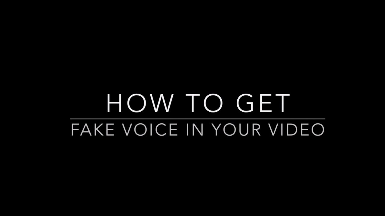 How to put a voice