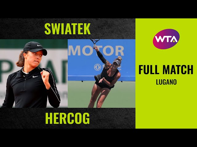 Iga Swiatek vs. Polona Hercog | Full Match | 2019 Lugano Final