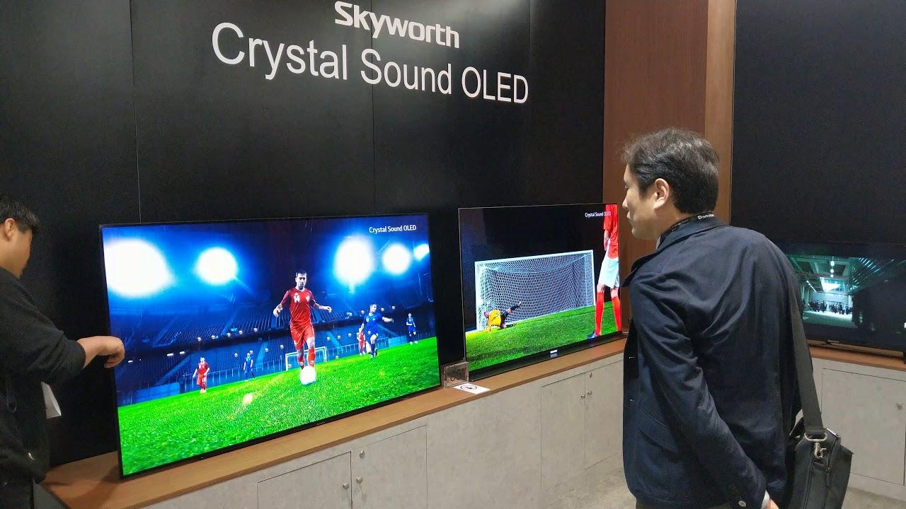 skyworth oled  Skyworth Crystal Sound OLED TV, CES 2018 [4K - Video] - YouTube