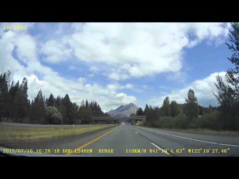 A drive from San Francisco, CA to Eugene, OR