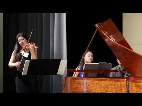 Beethoven: Violin Sonata No. 1 in D Major (Op. 12); Rachell Wong, violin; Jennifer Lee, fortepiano