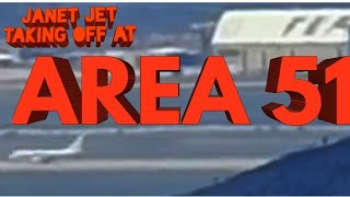 (AREA 51) JANET JET TAKING OFF IN AREA 51