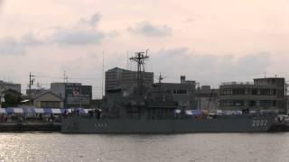 横須賀地方隊直轄 輸送艇2号の焼津港一般公開と、出港の模様です。